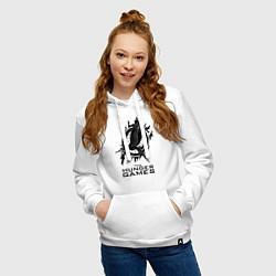 Толстовка-худи хлопковая женская The Hunger Games цвета белый — фото 2