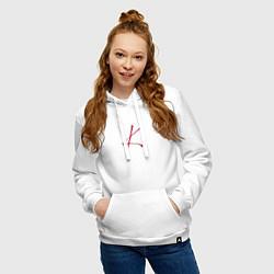 Толстовка-худи хлопковая женская Stray Kids цвета белый — фото 2