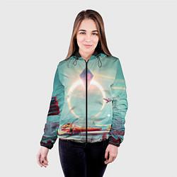Куртка с капюшоном женская No Mans Sky цвета 3D-черный — фото 2