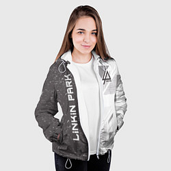 Куртка с капюшоном женская Linkin Park: Grey Form цвета 3D-белый — фото 2