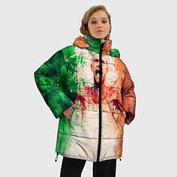 Женская зимняя 3D-куртка с капюшоном с принтом Conor McGregor: Ireland, цвет: 3D-черный, артикул: 10102373006071 — фото 2