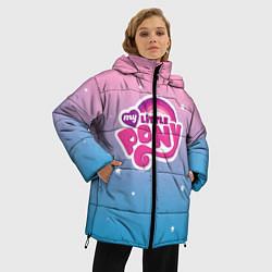 Женская зимняя 3D-куртка с капюшоном с принтом My Little Pony, цвет: 3D-черный, артикул: 10108222706071 — фото 2