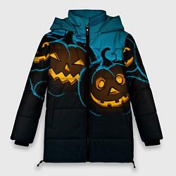 Женская зимняя 3D-куртка с капюшоном с принтом Halloween3, цвет: 3D-черный, артикул: 10109652806071 — фото 1