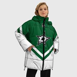 Женская зимняя 3D-куртка с капюшоном с принтом NHL: Dallas Stars, цвет: 3D-черный, артикул: 10112154206071 — фото 2
