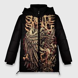 Женская зимняя 3D-куртка с капюшоном с принтом Suicide Silence, цвет: 3D-черный, артикул: 10112868506071 — фото 1