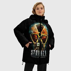 Женская зимняя 3D-куртка с капюшоном с принтом STALKER: Shadow of Chernobyl, цвет: 3D-черный, артикул: 10113004406071 — фото 2