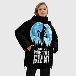 Женская зимняя 3D-куртка с капюшоном с принтом Bender Metal Giant, цвет: 3D-черный, артикул: 10113798806071 — фото 2