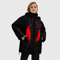 Женская зимняя 3D-куртка с капюшоном с принтом Zombie Rock, цвет: 3D-черный, артикул: 10114189106071 — фото 2