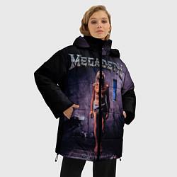 Женская зимняя 3D-куртка с капюшоном с принтом Megadeth: Madness, цвет: 3D-черный, артикул: 10118377406071 — фото 2