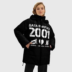 Женская зимняя 3D-куртка с капюшоном с принтом Дата выпуска 2001, цвет: 3D-черный, артикул: 10122747206071 — фото 2