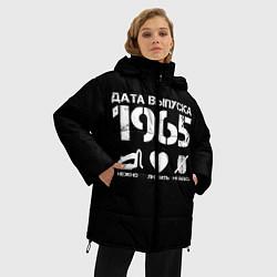 Женская зимняя 3D-куртка с капюшоном с принтом Дата выпуска 1965, цвет: 3D-черный, артикул: 10122771206071 — фото 2