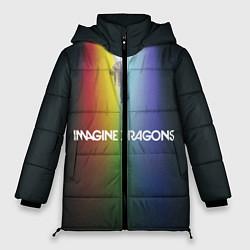 Женская зимняя 3D-куртка с капюшоном с принтом Imagine Dragons, цвет: 3D-черный, артикул: 10132586706071 — фото 1
