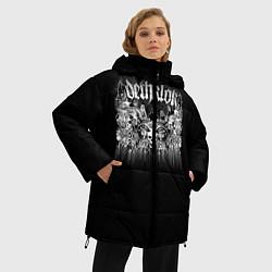 Женская зимняя 3D-куртка с капюшоном с принтом Dethklok: Demons, цвет: 3D-черный, артикул: 10134389906071 — фото 2