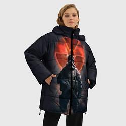 Женская зимняя 3D-куртка с капюшоном с принтом STALKER: Red Sun, цвет: 3D-черный, артикул: 10135204506071 — фото 2