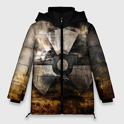 Женская зимняя 3D-куртка с капюшоном с принтом STALKER: Nuclear, цвет: 3D-черный, артикул: 10135204706071 — фото 1