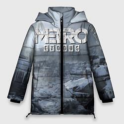 Женская зимняя 3D-куртка с капюшоном с принтом Metro Exodus: Cold Winter, цвет: 3D-черный, артикул: 10135429106071 — фото 1