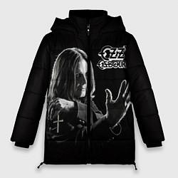 Женская зимняя 3D-куртка с капюшоном с принтом Оззи Осборн, цвет: 3D-черный, артикул: 10138075906071 — фото 1