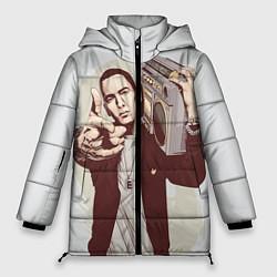 Куртка зимняя женская Eminem: Street Music цвета 3D-черный — фото 1