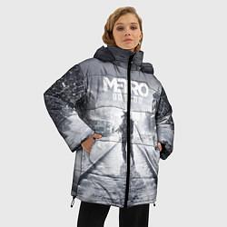 Женская зимняя 3D-куртка с капюшоном с принтом Metro Exodus, цвет: 3D-черный, артикул: 10141949906071 — фото 2