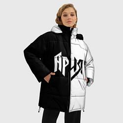 Куртка зимняя женская Ария Ч/Б цвета 3D-черный — фото 2