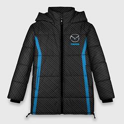 Женская зимняя 3D-куртка с капюшоном с принтом MAZDA SPORT, цвет: 3D-черный, артикул: 10146442906071 — фото 1