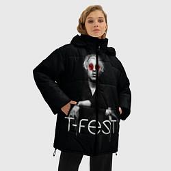 Женская зимняя 3D-куртка с капюшоном с принтом T-Fest: Black Style, цвет: 3D-черный, артикул: 10147368106071 — фото 2