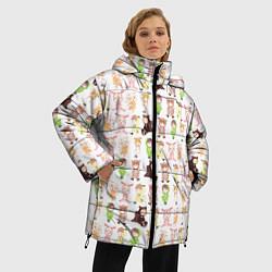 Женская зимняя 3D-куртка с капюшоном с принтом MONSTA X 10, цвет: 3D-черный, артикул: 10150080706071 — фото 2