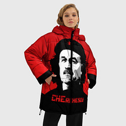 Женская зимняя 3D-куртка с капюшоном с принтом Che Rchesov, цвет: 3D-черный, артикул: 10155139506071 — фото 2