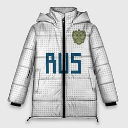 Женская зимняя 3D-куртка с капюшоном с принтом Сборная России 2018, цвет: 3D-черный, артикул: 10155856506071 — фото 1