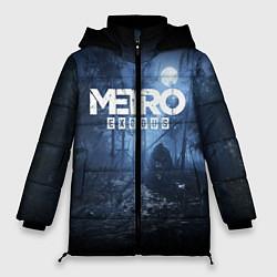 Женская зимняя 3D-куртка с капюшоном с принтом Metro Exodus: Dark Moon, цвет: 3D-черный, артикул: 10161310106071 — фото 1