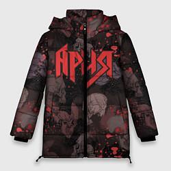 Женская зимняя 3D-куртка с капюшоном с принтом Ария, цвет: 3D-черный, артикул: 10163228706071 — фото 1
