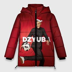 Женская зимняя 3D-куртка с капюшоном с принтом Новогодний Дзюба, цвет: 3D-черный, артикул: 10164929906071 — фото 1