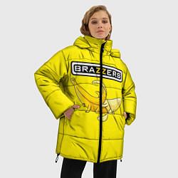 Женская зимняя 3D-куртка с капюшоном с принтом Brazzers: Yellow Banana, цвет: 3D-черный, артикул: 10167454506071 — фото 2