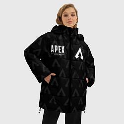 Женская зимняя 3D-куртка с капюшоном с принтом Apex Legends: E-Sports, цвет: 3D-черный, артикул: 10172160506071 — фото 2
