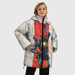 Женская зимняя 3D-куртка с капюшоном с принтом Apex Legends: Pathfinder, цвет: 3D-черный, артикул: 10172752306071 — фото 2