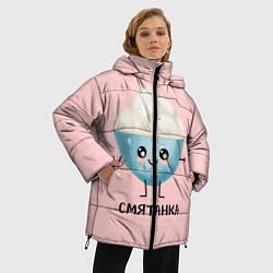 Женская зимняя 3D-куртка с капюшоном с принтом Смятанка, цвет: 3D-черный, артикул: 10172931706071 — фото 2