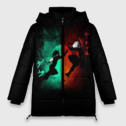 Женская зимняя 3D-куртка с капюшоном с принтом No Hero Academia, цвет: 3D-черный, артикул: 10181198506071 — фото 1