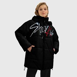 Женская зимняя 3D-куртка с капюшоном с принтом Stray Kids, цвет: 3D-черный, артикул: 10185247706071 — фото 2