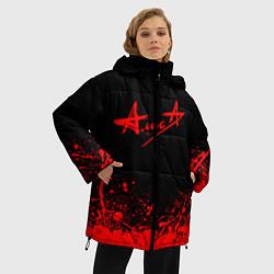 Куртка зимняя женская АлисА на спине цвета 3D-черный — фото 2