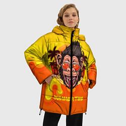 Женская зимняя 3D-куртка с капюшоном с принтом Summertime обезьяна, цвет: 3D-черный, артикул: 10209177906071 — фото 2
