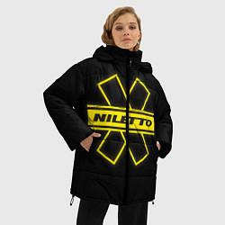 Женская зимняя 3D-куртка с капюшоном с принтом NILETTO, цвет: 3D-черный, артикул: 10210984706071 — фото 2