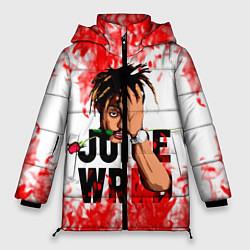 Женская зимняя 3D-куртка с капюшоном с принтом Juice WRLD, цвет: 3D-черный, артикул: 10212959906071 — фото 1