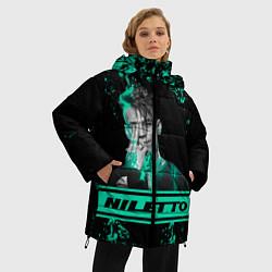 Женская зимняя 3D-куртка с капюшоном с принтом NILETTO, цвет: 3D-черный, артикул: 10213499506071 — фото 2