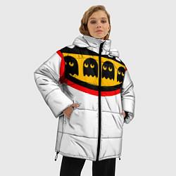 Женская зимняя 3D-куртка с капюшоном с принтом PAC-MAN, цвет: 3D-черный, артикул: 10245857906071 — фото 2