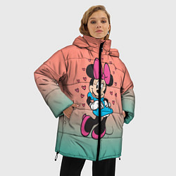 Женская зимняя 3D-куртка с капюшоном с принтом Минни Маус, цвет: 3D-черный, артикул: 10250094106071 — фото 2