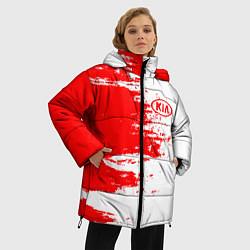 Женская зимняя 3D-куртка с капюшоном с принтом KIA, цвет: 3D-черный, артикул: 10253891306071 — фото 2