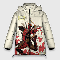 Женская зимняя 3D-куртка с капюшоном с принтом Deadpool, цвет: 3D-черный, артикул: 10275015906071 — фото 1