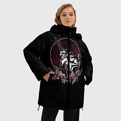 Женская зимняя 3D-куртка с капюшоном с принтом Evangelion, цвет: 3D-черный, артикул: 10275387706071 — фото 2