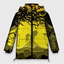 Женская зимняя 3D-куртка с капюшоном с принтом Пони, цвет: 3D-черный, артикул: 10277862906071 — фото 1