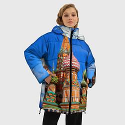 Куртка зимняя женская Храм Василия Блаженного цвета 3D-черный — фото 2